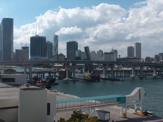 Miami, Floride : View from cruise ship