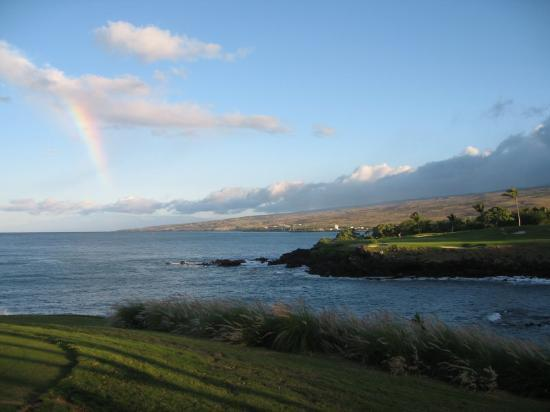Mauna Kea Resort Golf Course: Signature Hole 3 with Rainbow