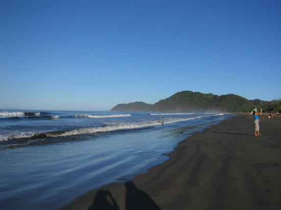 Black sand of Jaco at sunrise