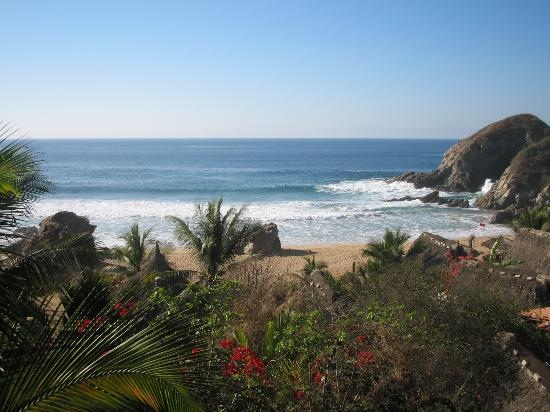 Zipolite, Mexiko: View from the balcony