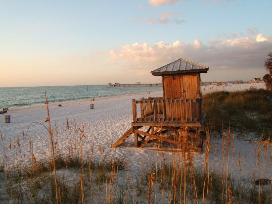 Clearwater, Floride : The beach at Sunset