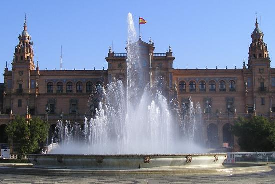 Sevilla, Spania: The fountain