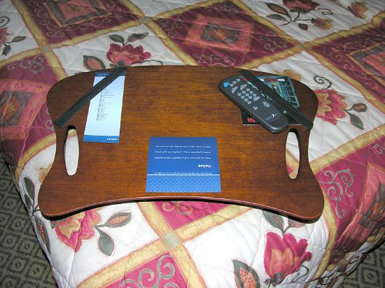 Hampton Inn & Suites - Palm Desert: Lap tray for bed.