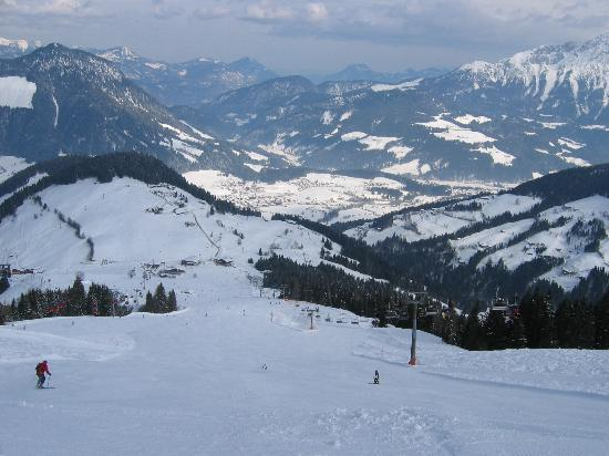 Looking down to Soll from the Hohe Salve