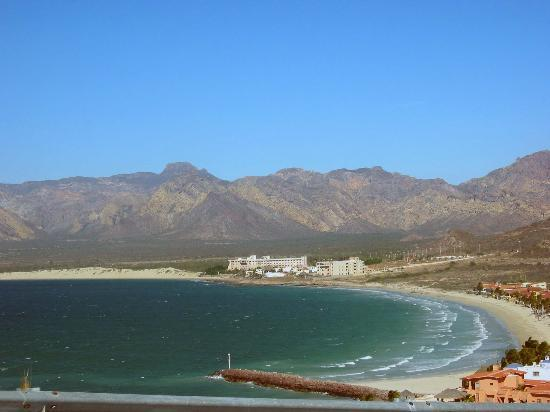 San Carlos, Mexico: Our hotel from a distance.
