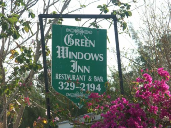 Green Windows Inn: Green Windows sign