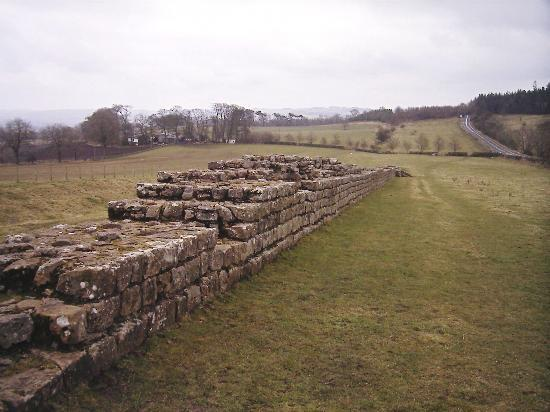 Hexham, UK: Small section of the wall
