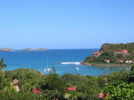 St. Jean, St. Barthélemy: View from the terrace looking right