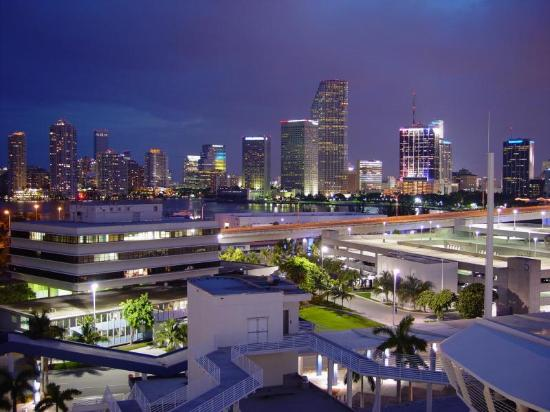 downtown miami at night