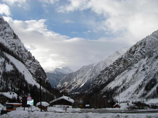 Courmayeur, Italy: View from the Hotel