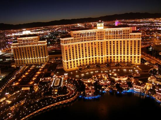 Las Vegas, NV: BELLAGIO FROM EIFFEL TOWER