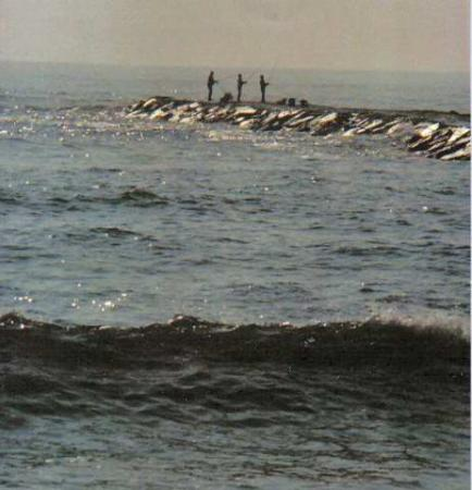 New Jersey: fishing jetty,Avalon N.J.