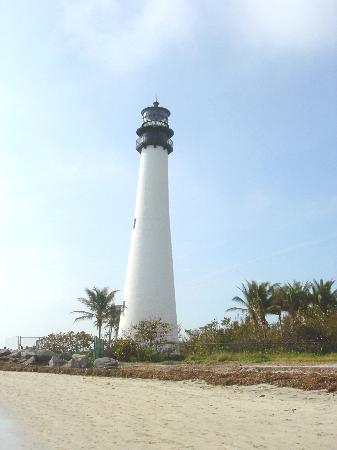 Key Biscayne, FL: lighthouse at the end of the island