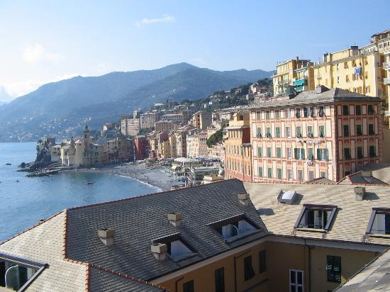 View of Camogli from our balcony (top floor)