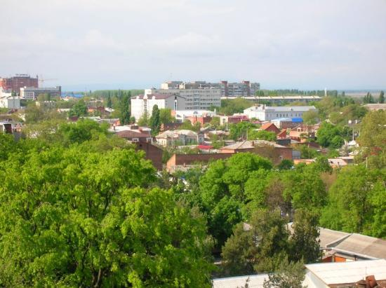Krasnodar, Russia: A view from the balcony in May