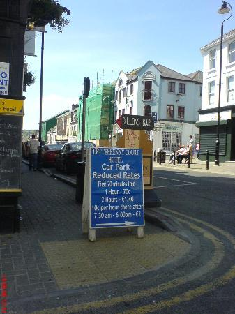 Letterkenny Court Hotel: Offending car park sign