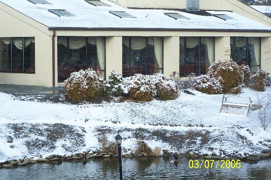 Meadowbrook Inn & Suites: This is looking in to the restaurant, the food is fantastic!