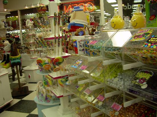 The White Rose Inns: one of the numerous candy stores in the downtown district