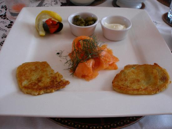 Devondell: Smoked Salmon with Potato Pancakes