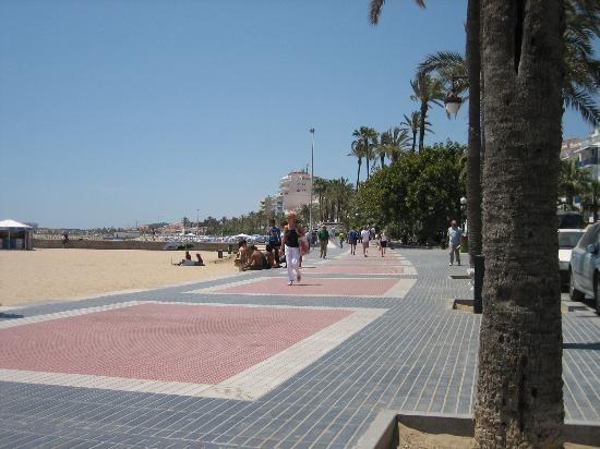 Sitges beach, toward the hotel Arcadia from downtown