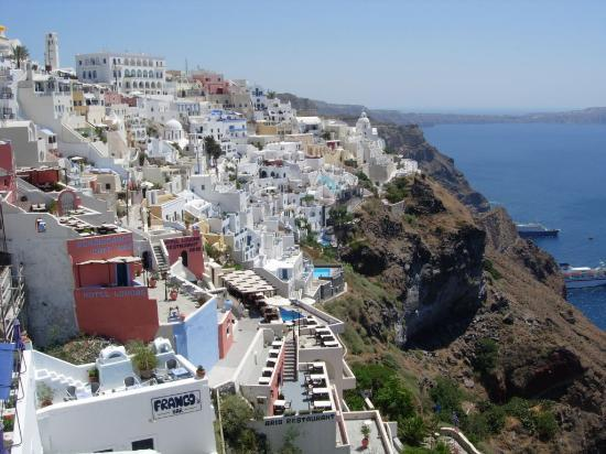 Kamari, Grce : Thira, Santorini. 