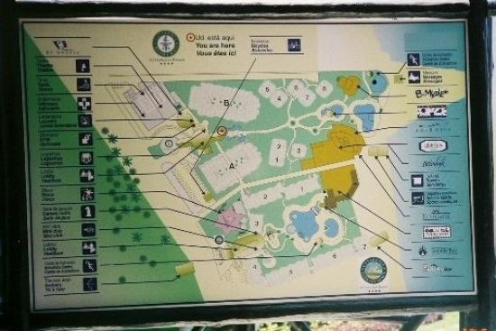 Resort Map Picture Of Catalonia Riviera Maya Puerto Aventuras Tripadvisor