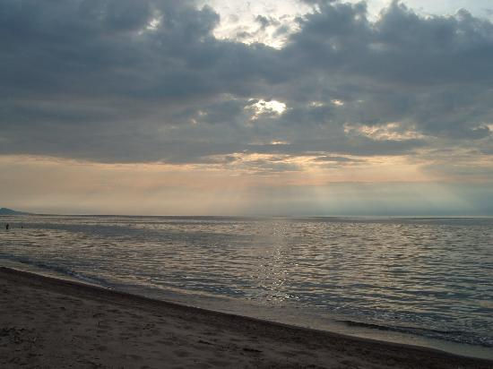 Ontonagon, MI: Superior sunset from the south shore