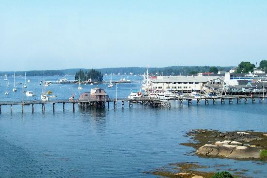 Boothbay Harbor, ME: View of the Harbor from the Inn