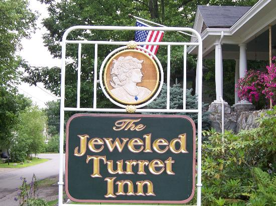 The Jeweled Turret Inn: Jeweled Turret Inn sign