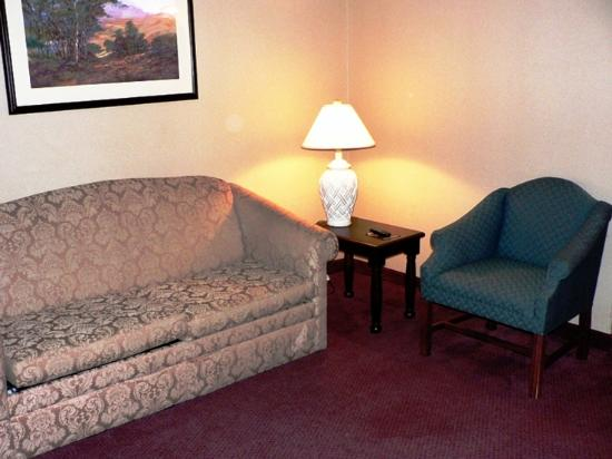 Country Inn & Suites By Carlson, Annapolis, MD: Sitting room with sofa & easy chair