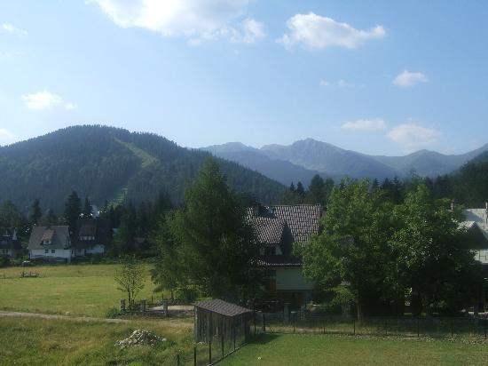 Zakopane, Poland: View from room - one of the few highlights