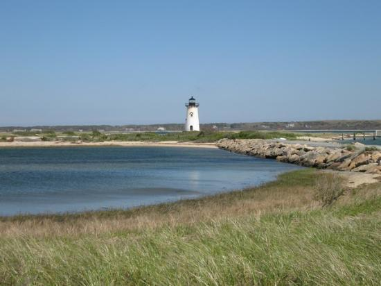 Jonathan Munroe House: the Edgartown lighthouse, about 1 mile away