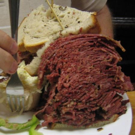 Woody Allen Corned Beef And Pastrami Sandwich Picture Of The Carnegie Deli