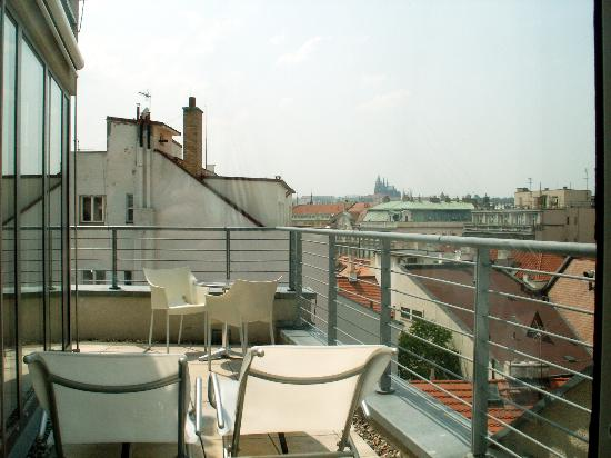 704 balcony with view towards prague castle picture of for Design hotel josef prague booking com