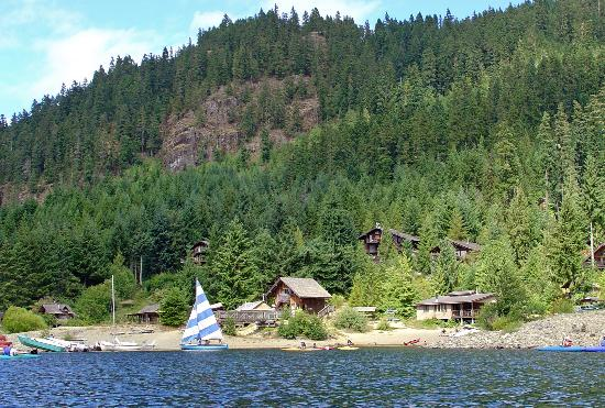 Strathcona Park Lodge & Outdoor Education Centre: View of facilities from the bay
