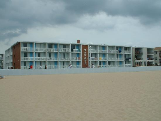 Sahara Motel from beach