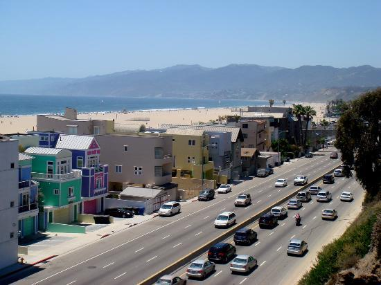 Santa Monica, Kalifornien: Pacific Coast Hwy towards Malibu