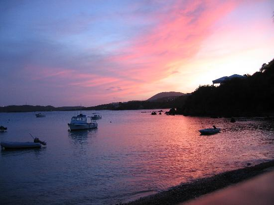 Benner, St. Thomas: beautiful sunset from the restaurant