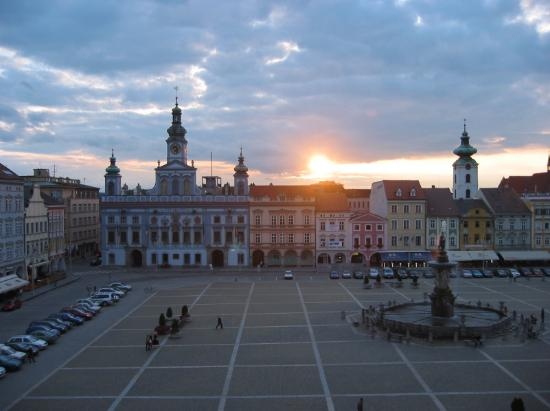 Ceske Budejovice, Czech Republic: The View From Our Window