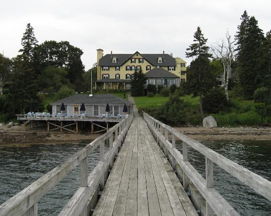 The Claremont Hotel: The Main Inn viewed from the dock