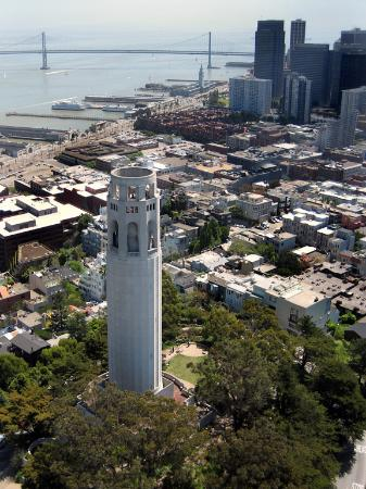 San Francisco, Californië: View 75 feet above coit tower [-]