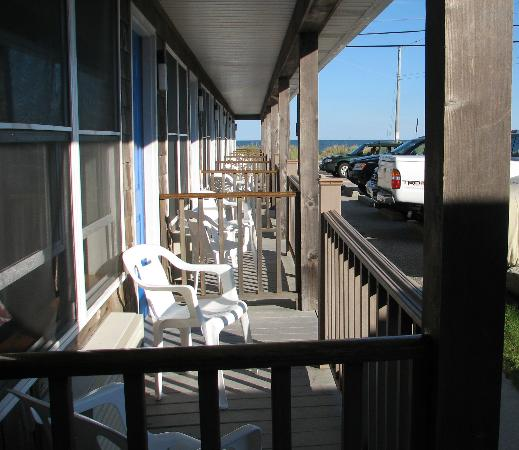 The Anchor Motel: Porches, Anchor Motel, Narragansett, RI