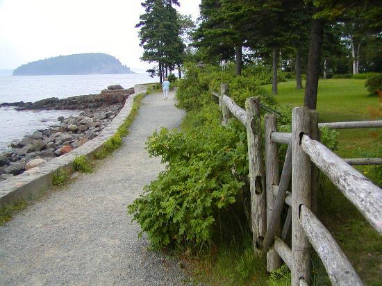 Bar Harbor, ME: Ocean Trail, with one of the Pocupine Islands in background