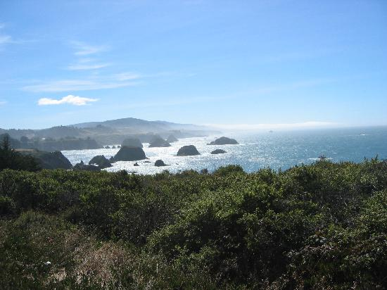View from Hwy 1 about 1 mile from the Elk Cove Inn