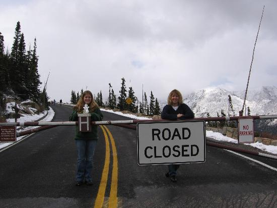 Rocky Mountain National Park, CO: Road closed? (notice the mini snow man)