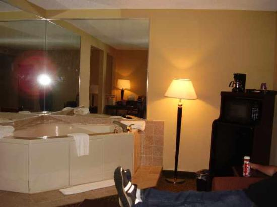 Quality Inn at Carowinds: Jacuzzi, Refrigerator, Microwave