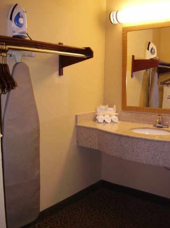 Quality Inn at Carowinds: Sink and Closet area next to bathroom