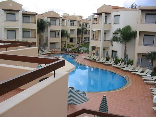 Creta Palm: View from sun terrace over the complex