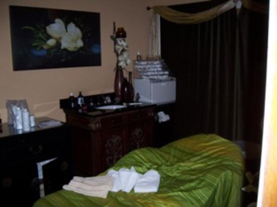Inn and Spa at Parkside: Facial room, oh so relaxing