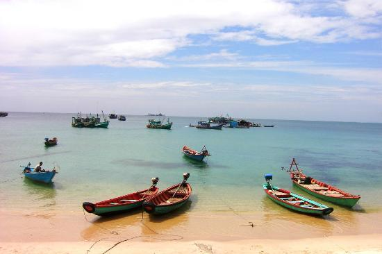 Île de Phu Quoc, Vietnam : Fishing boats - North end of island